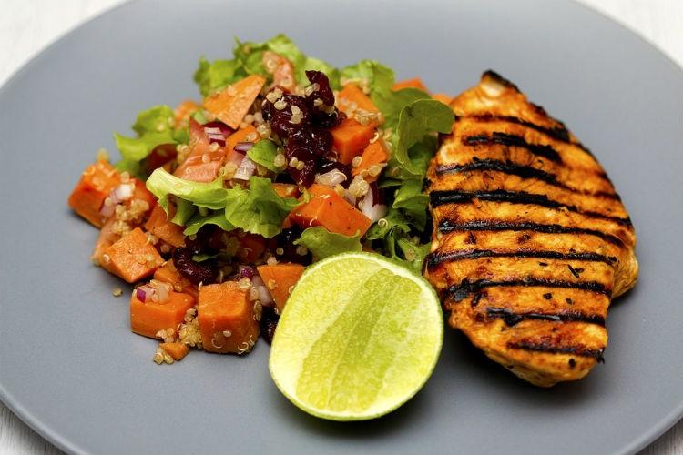 Orange chickenwith protein quinoa