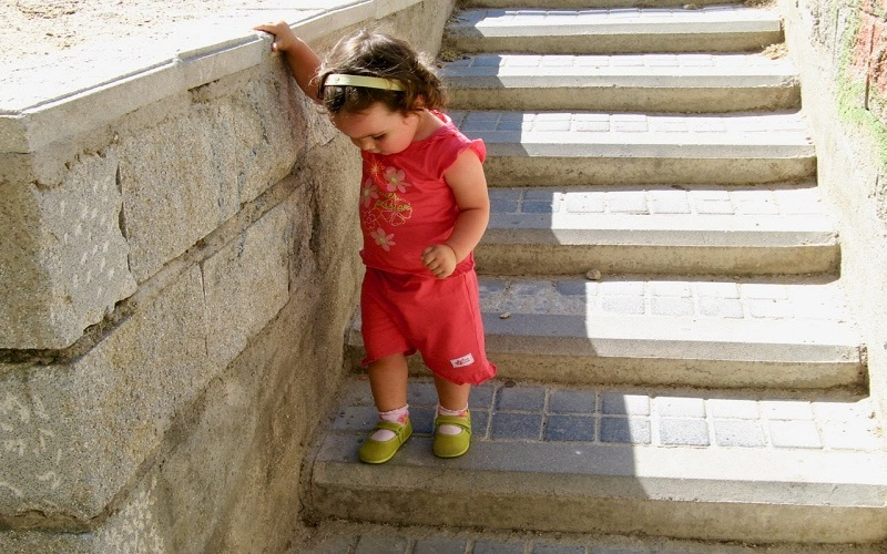 the down the stairs