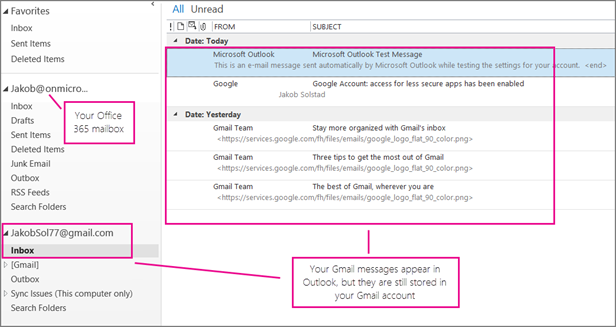 Add a Google account to Outlook