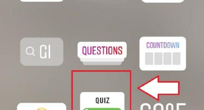 Quizzes on instagram