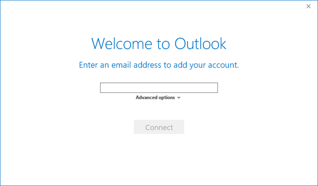 Welcome from Outlook