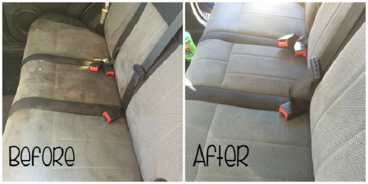 clean car upholstery